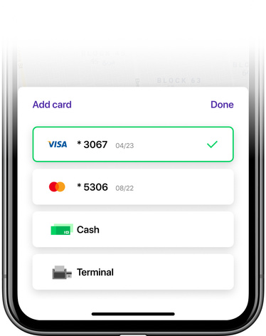 Pay by card, terminal & cash - Onde App